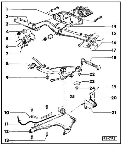 quattroworld com forums  rear subframe parts diagram and
