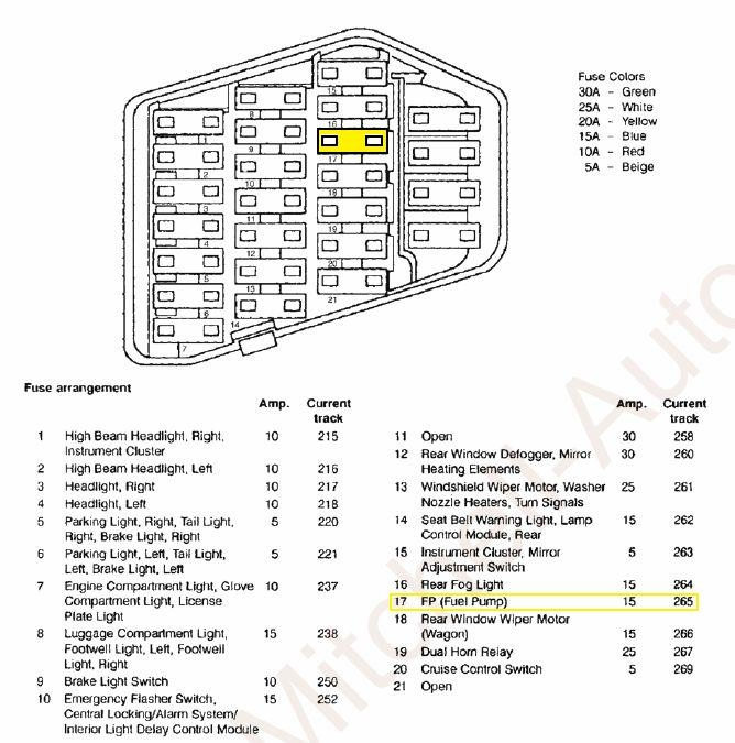 25926 on 2001 Mercury Sable Fuse Box Diagram