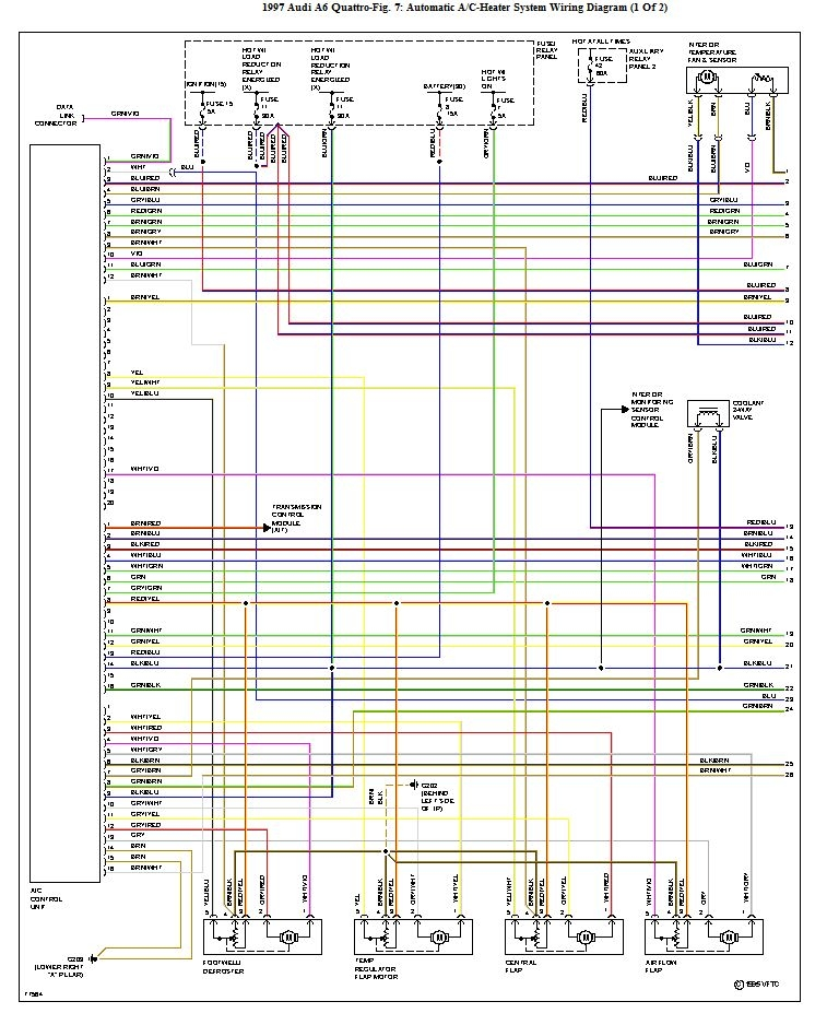 HVAC Wiring Diagram1 quattroworld com forums climate control wiring diagram 1 of 2 2006 Audi A6 Radio at fashall.co