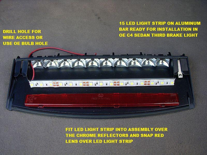 Quattroworld forums towards a 3rd brake light bulb but first i better show the comparison between the 10 23w oe light strip outside of the assembly and the 15 led light strip both powered by the same mozeypictures Gallery