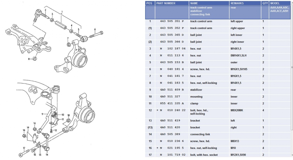 audi suspension parts diagrams  audi  auto parts catalog