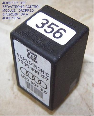 quattroworld com forums urs car servotronic control module pns to add to the fun or confusion there was also a 4d0907307 356 control module that was dropped 01 02 2000 in favour of the 4d0907307a 605 module