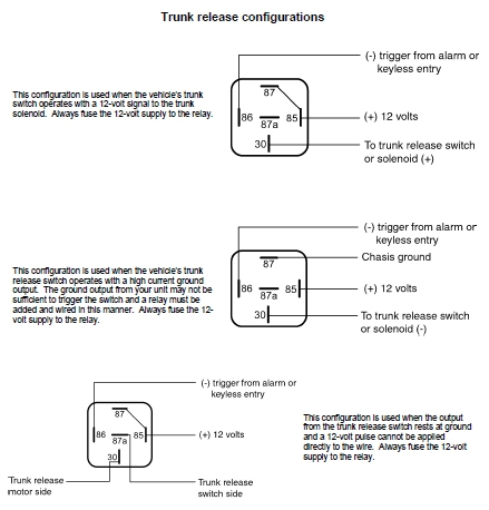 5 Wire Trunk Release Relay Wiring Diagram on 1992 acura integra