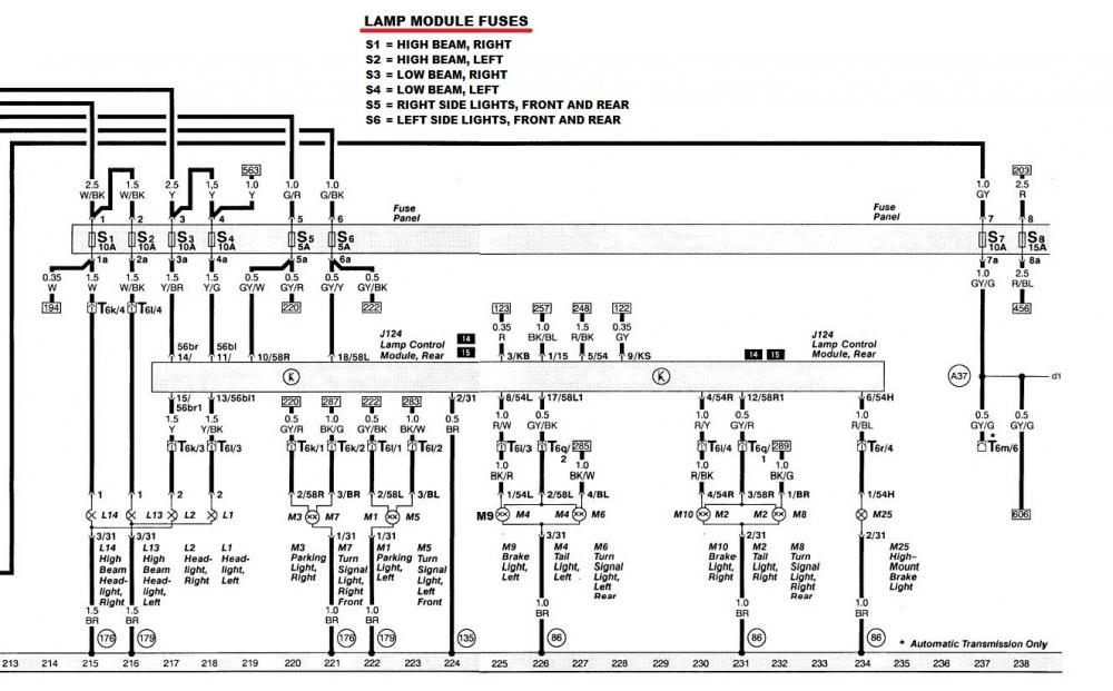 quattroworld com forums  urs4  u0026quot 302 u0026quot  lamp control module