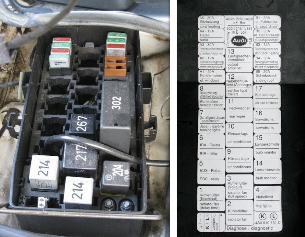 2005 Audi A4 Cabriolet Fuse Box Location : Vw jetta fuse box relay diagram free engine